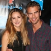 """Shailene Woodley with costar Theo James, her onscreen boyfriend in """"Divergent"""""""