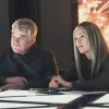"""Philip Seymour Hoffman and Julianne Moore in a still from the new trailer for """"The Hunger Games: Mockingjay, Part One"""""""
